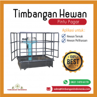 Timbangan Ternak Manual model pintu pagar