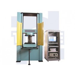 Microcomputer controlled spring lateral stiffness testing machine